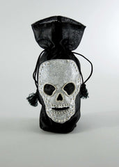 "Katherine's Collection Forest Cemetery Halloween Collection Six 4"" x 14"" Skull Bottle Bags Free Ship"
