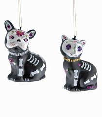 "Katherine's Collection Frida Love Halloween Collection Twelve 4"" Skull Cat And Dog Ornaments Free Ship"
