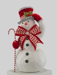 "Katherine's Collection Christmas Spectacular Collection Two 12"" Tabletop Snowman Figurines Free Ship"