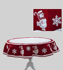 "Katherine's Collection Christmas Spectacular Collection 54"" Spectacular Snowman Table Overlay Free Ship"