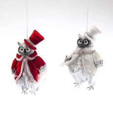 "Katherine's Collection Christmas Spectacular Collection Eight Assort 6"" Spectacular Owl Ornaments Free Ship"