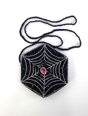 "Katherine's Collection Dead And Breakfast Halloween Collection Two 8"" Spider Web Purses Free Ship"