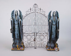 "Katherine's Collection Forest Cemetery Halloween Collection 26"" Tabletop Cemetery Gate Free Ship"