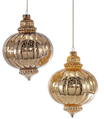 Katherine's Collection Tapestry Christmas Collection Eight Assorted 110 mm Antique Glass Finial Ball Ornaments Free Ship