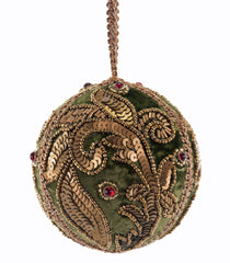 Katherine's Collection Tapestry Christmas Collection Twelve Assorted 100 mm Tapestry Sequined Jeweled Embroidered Ball Ornaments Free ship