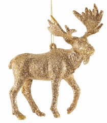 "Katherine's Collection Tapestry Christmas Collection Twenty-Four 5"" Gold Glittered Moose Ornaments Free Ship"