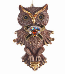 "Katherine's Collection Tapestry Christmas Collection Eight 6.25"" Jeweled Owl Ornaments Free Ship"