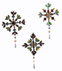 "Katherine's Collection Tapestry Christmas Collection Twelve Assorted 6"" Tapestry Jeweled Snowflake Ornaments Free Ship"