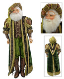 "Katherine's Collection Tapestry Christmas Collection Life Size 64"" Tapestry Santa Claus Display Doll With Stand Free Ship"