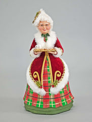 "Katherine's Collection Tartan Traditions Collection 14"" Tartan Mrs Santa Figurine Free Ship"