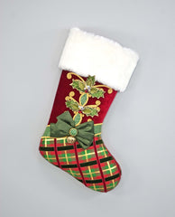 "Katherine's Collection Tartan Traditions Collection Two 24"" Tartan Paper Mache Christmas Stockings Free Ship"