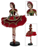 "Katherine's Collection Tartan Traditions Christmas Collection 32"" Tartan Ballerina Doll Free Ship"
