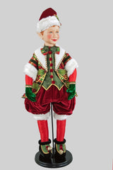 "Katherine's Collection Tartan Traditions Collection 30"" Tartan Elf Doll Free Ship"