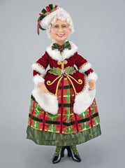 "Katherine's Collection Tartan Traditions Collection 25"" Mrs Santa Claus Doll Free Ship"