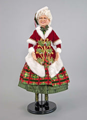 "Katherine's Collection Tartan Traditions Collection 30"" Mrs Santa Claus Doll Free Ship"