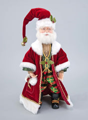"Katherine's Collection Tartan Traditions Collection 19"" Traditional Tartan Santa Claus Doll Free Ship"