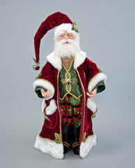 "Katherine's Collection Tartan Traditions Collection 26"" Tartan Traditional Santa Claus Doll Free Ship"