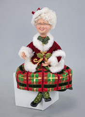 "Katherine's Collection Tartan Traditions Collection 18"" Traditional Tartan Mrs Santa Claus Doll Free Ship"