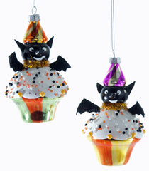 "Katherine's Collection Tricky Treats Halloween Collections Set Twelve Assorted 5"" Bat Cupcake Ornaments Free Ship"