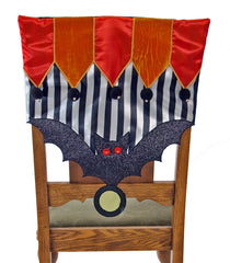 "Katherine's Collection Tricky Treats Halloween Collection Four  19 x 19"" Tricky Treats Chair Covers Free Ship"