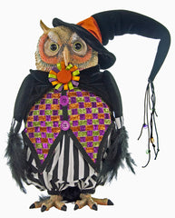"Katherine's Collection Tricky Treats Halloween Collection 13"" Table Top Owl Free Ship"