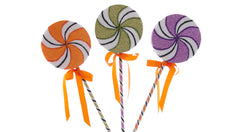 "Katherine's Collection Tricky Treats Halloween Collections Set Twelve Assorted 15"" Tricky Treats Lollipops Free Ship"