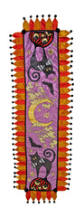 "Katherine's Collection Tricky Treats Halloween Collection 22"" x 72"" Treats Table Runner Free Ship"