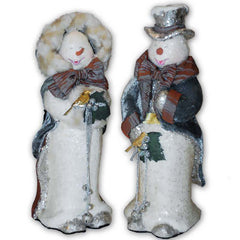 "Katherine's Collection 13"" And 15"" Vintage Caroling Christmas Snowman Set Free Ship-IN STOCK"