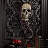 "Katherine's Collection Forest Cemetery Halloween Collection Life Size 44"" Skull Wall Mask"