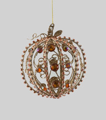 "Katherine's Collection The Gilded Seasons Collection Twelve 5"" Pumpkin Jeweled Ornaments Free Ship"