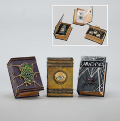 "Katherine's Collection Spellbound Halloween Collection Three Assorted  6 x 4"" Witch Books With Surprise Ornaments Free Ship"