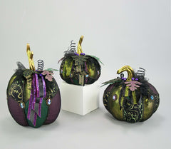"Katherine's Collection Spellbound Halloween Collection Witches 11"", 12"" 17"" Pumpkin Set Free Ship"