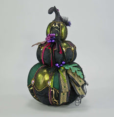 "Katherine's Collection Spellbound Halloween Collection 18"" Witches Pumpkin Stack Free Ship"