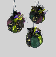 "Katherine's Collection Spellbound Halloween Collection Six Assort 5"" Embellished Witch Pumpkin Ornaments Free Ship"
