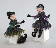 "Katherine's Collection Spellbound Halloween Collection Set Two 19"" Witch Dolls Free Ship"