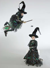 "Katherine's Collection Spellbound Halloween Collection Set Two 18"" Witch Dolls Free Ship"