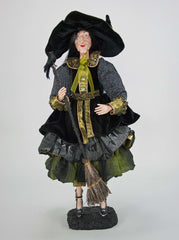 "Katherine's Collection Spellbound Halloween Collection 23"" Witch With Broom Free Ship"