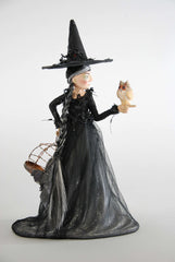 "Katherine's Collection Spellbound Halloween Collection 15"" Witch With Owl Figurines Free Ship"