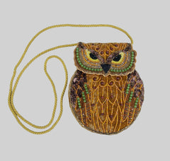 "Katherine's Collection Into The Woods Collection Two 9"" Woodland Beaded Owl Purse Free Ship"