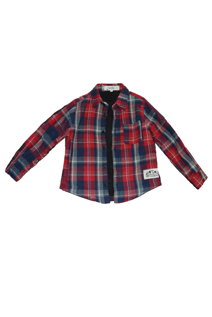 Kids Sherpa Lined Flannel Shirt
