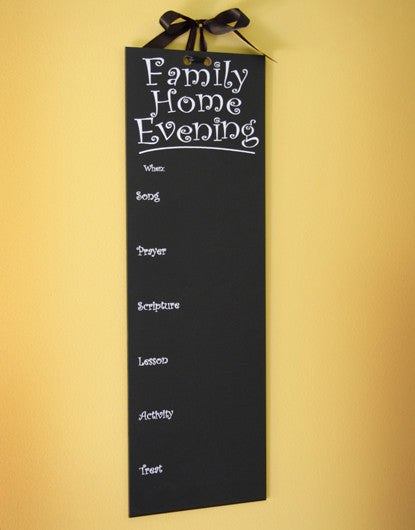 The Original FHE Family Home Evening Chalkboard