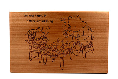 Winnie the Pooh Wood Tea Box-Classic Pooh Quote with Pooh and  Piglet-Hardwood Vintage Engraving-Personalize It with Quotes from Pooh Bear
