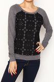 flower lace sweater