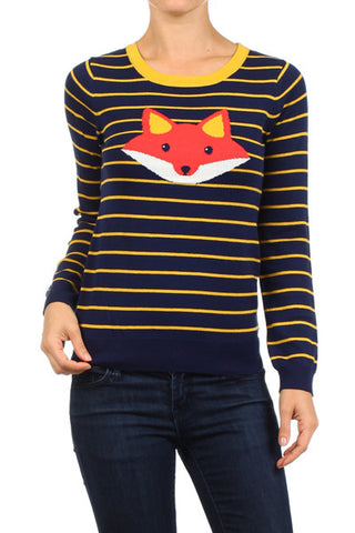 fox striped sweater