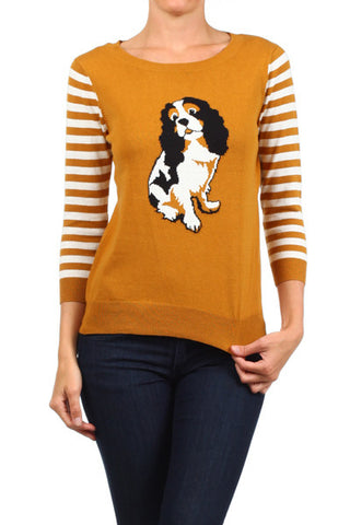 dog print sweater