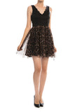 animal print tulle dress