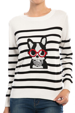 striped dog sweater