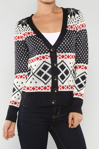 navy Christmas sweater