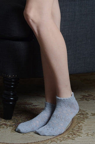 grey pointelle socks