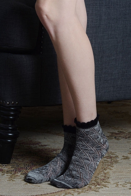 black knit socks